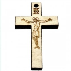 Wooden Engraved Cross (3.6x2.3)cm