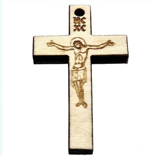 Wooden Engraved Cross (3.6x2.3)cm