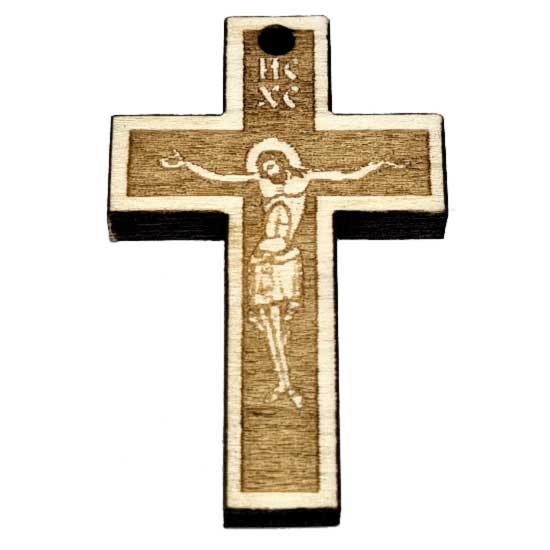 Wooden Engraved Cross (3.5x2.3)cm