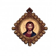 The Medallion Jesus Christ (3.6x3.3)cm
