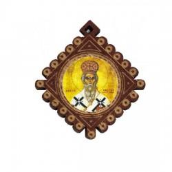 The Medallion od St. Basil of Ostrog (3.6x3.3)cm