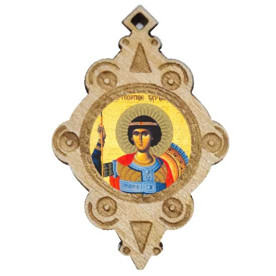 The Medallion of St. Djurdjic (4.3x2.9)cm