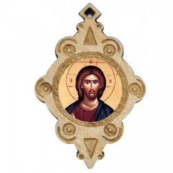 The Medallion of Jesus Christ (4.3x2.9)cm
