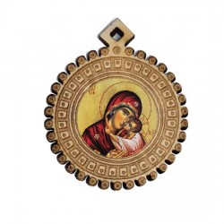 Medaljon Bogorodica (3.5x3)cm