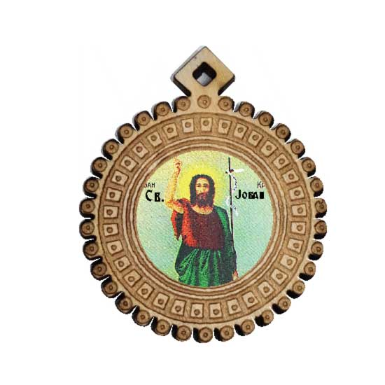 The Medallion of St. John the Baptist (3.5x3)cm - in the box