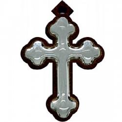 Wooden cross with sticker (3x2)cm